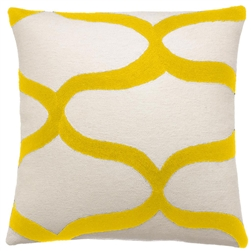 judy ross, judy ross pillows, wave, chainstich pillows