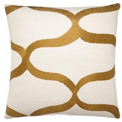 A3-Wave Cream / Gold Rayon Pillow