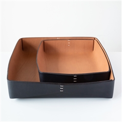 Dario Leather Tray Black
