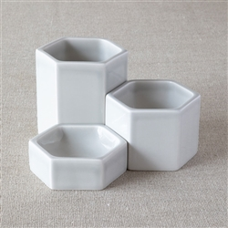 Hexagonal Containers Grey