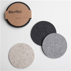 Round Felt Coasters Neutral