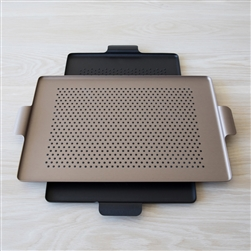 Aluminum Pressed Tray With Rubber Grips