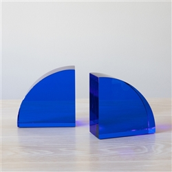 Simplicity Glass Bookends