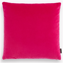 E Cotton Velvet Fuchsia Pillow