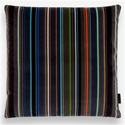 E Velvet Stripe Pillow