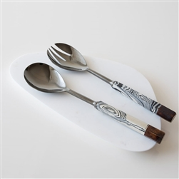 B Zebra Marble Serving Set