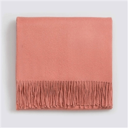 Classic Throw Solid Peach Rose
