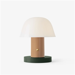 Setago Table Lamp Nude & Forest