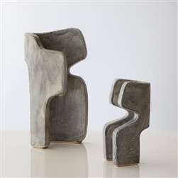 P Abstract Sculptures Earth Grey