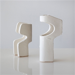 P Abstract Sculptures White