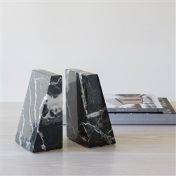 Marble Zeus Bookends