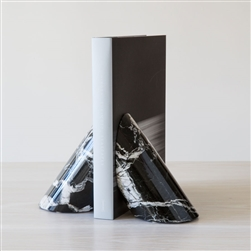 Marble Coronet Bookends