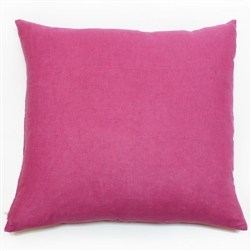 solid berry handmade square linen pillow