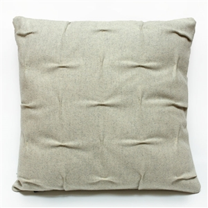 wool draped pillow beige