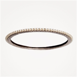 H Pearl Silver Bangle