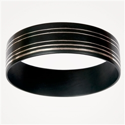 H Raj 5 Stripe Wide Bangle