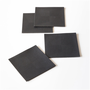 M Black Leather Coasters