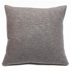 Cashmere Square Pillow Grey with Gold Sparkles