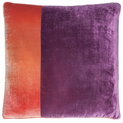 Velvet O Color Block Pillow Raspberry