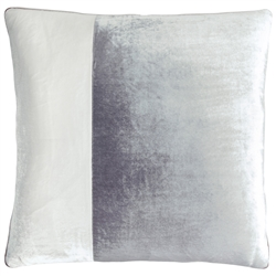 Velvet O Color Block Pillow Smoke