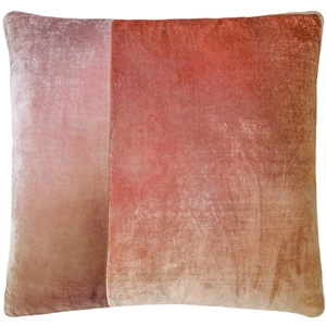 Velvet O Color Block Pillow Blush