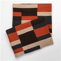 Bauhaus Rust Throw