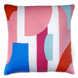 A1-Composition Pillow Dusty Pink/Cream Blue