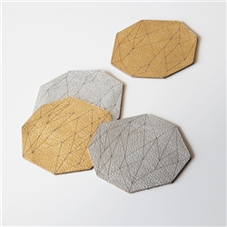 M Gem Leather Coasters