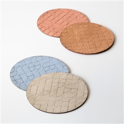 M Semiquarter Leather Coasters
