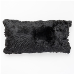 J Alpaca Black Pillow
