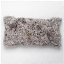 J Alpaca Cool Grey Pillow