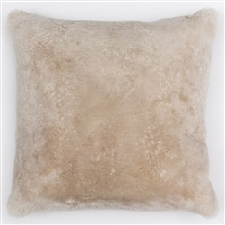J Sheepskin Pillow