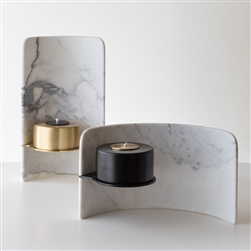 Marble Corvus Oil Candle
