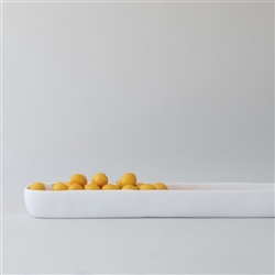 Handmade white resin large trough