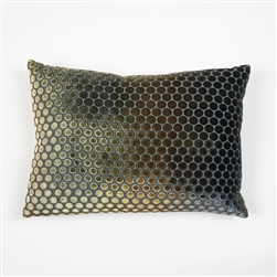 velvet, pillow, kevin, o'brien, color, dots, copper ivy, rectangle, silk, kevin o'brien,