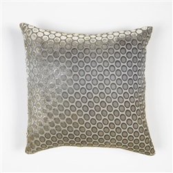 velvet, pillow, kevin, o'brien, color, dots, nickel, square, silk, kevin o'brien,