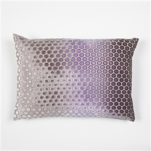 velvet, pillow, kevin, o'brien, color, dots, iris, rectangle, silk, kevin o'brien,