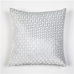 velvet, pillow, kevin, o'brien, color, dots, white, square, silk, kevin o'brien,