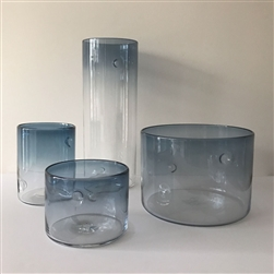 Dimple Vase Steel Blue