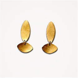 H Dia Long Gold Earrings
