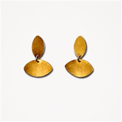 H Dia Short Gold Earrings