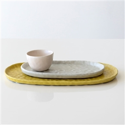Pinched Plate & Bowl Set