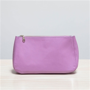 leather pouch lilac