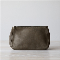 leather pouch olive