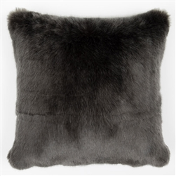 Faux Fur Pillow Anthracite