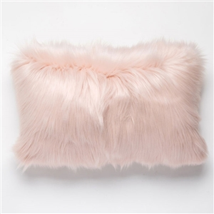 Faux Fur Pillow Blush