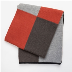 Cashmere Knit Hopscotch Throw