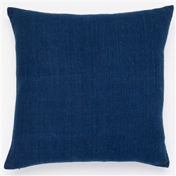 D Solid Indigo Pillow