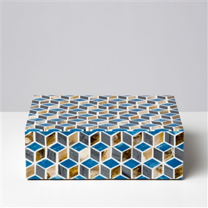 Blue Diamond Mosaic Box
