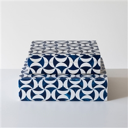 Blue Geometric Box